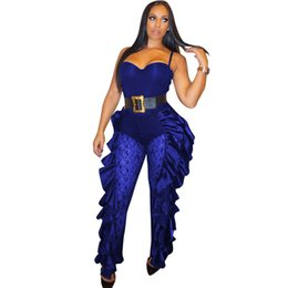 $enCountryForm.capitalKeyWord UK - Double Side Ruffles Sexy Jumpsuit For Women 2018 Black Lace Patchwork Strapless Bandage Romper Elegant See Through Party
