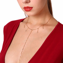 $enCountryForm.capitalKeyWord Australia - Fashion Melon Seeds Chain Jewelry Long Clavicle Choker Necklaces Small Crystal Pendants for charm Women