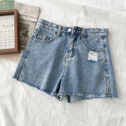 $enCountryForm.capitalKeyWord Australia - summer shorts mujer 2019 Korean modis hot pants loose wide leg panties high waist pantaloncini donna women jeans shorts femme