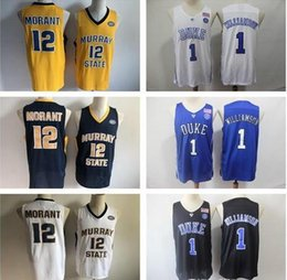 $enCountryForm.capitalKeyWord Australia - NCAA #1 Zion Williamson Duke Blue Devils #12 Ja Morant Murray State College Basketball Jerseys White Blue Black Stitched patches embroidered