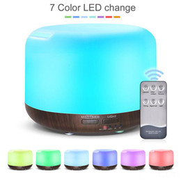 Remote Control 300ML Ultrasonic Air Aroma Humidifier With 7 Color Lights Electric Aromatherapy Essential Oil Aroma Diffuser from mini ultrasonic warm mist humidifier manufacturers