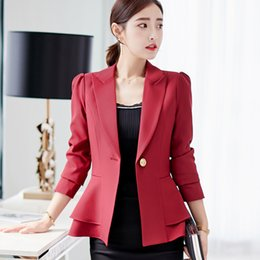 0e6f680745f Sexy Autumn New Women Suit Long Sleeves Suits Female Coat Slim Blazers  Fashion Office Jacket Femme Pink Blue White Black