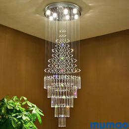 $enCountryForm.capitalKeyWord Australia - Stair LED Crystal Chandeliers Pendant Lights Crystal Chandelier Indoor Lighting Luxury Clear Glass Chandeliers Lamp Suspended Lamps