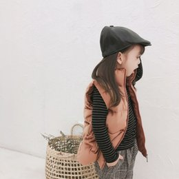$enCountryForm.capitalKeyWord Australia - 2019 Autumn And Winter New Arrival Cotton fashion all-match thickened Pure color Silk Velvet Vest for cute sweet baby girls boys