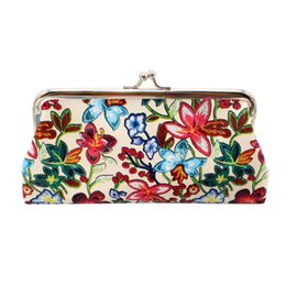 $enCountryForm.capitalKeyWord Australia - Women Retro Printing Flower Leather Wallet Coin Purse Card Holders Handbag Portable Wallet cartera mujer*10