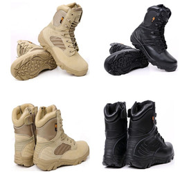 Wholesale 2019 New Hot Winter Autumn Men Military Boots Quality Special Force Tactical Desert Combat Ankle Boots Army Work Shoes Leather Snow Boots