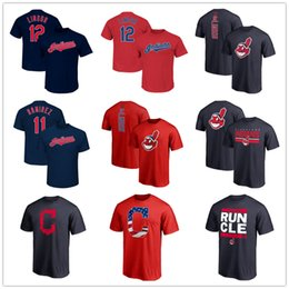 Wholesale Baseball jersey Francisco Lindor Ramirez Cleveland mens designer t shirts Fans Tops Tees printed Logos Player Name Number