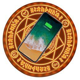 Universal magic circle carregador sem fio qi sem fio rápido rápido de carregamento pad para iphone xs x 8 samsung xiaomi redmi huawei honor t6190605 venda por atacado
