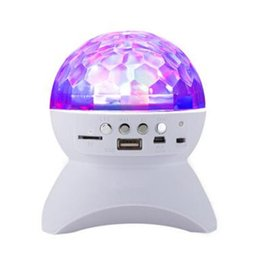 $enCountryForm.capitalKeyWord Australia - Crystal Magic Ball LED360° Rotating Speaker TF USB Card Colorful Neon Stage Light Bluetooth Speaker Battery capacity 1000mah