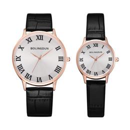 $enCountryForm.capitalKeyWord Australia - 2 PCS Creative Personality Minimalist Leather Waterproof Dress Watch Men And Women Couple Watch Smart Casual Sports Clock