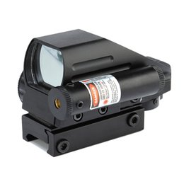 $enCountryForm.capitalKeyWord UK - 2019 High Quality Aluminum 1X Magnification Tactical 4 Reticles Dual-shot Red Green Dot Sight Red Laser Combo With 20mm Rail Mount.
