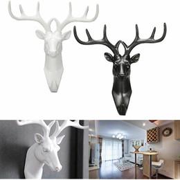 Vintage coat hooks online shopping - Vintage Deer Head Hanger Decorative Wall Hooks Minimalist Home Decor Clerk On The Wall Coat Clothes Key Holder Rack Housekeeper