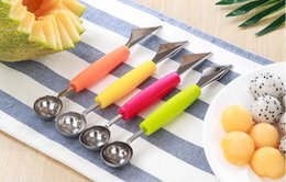 $enCountryForm.capitalKeyWord Australia - Double end stainless steel B kitchen utensils watermelon scooper kitchen watermelon carving knife fruit scooper bowl scooper