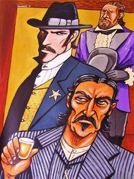 $enCountryForm.capitalKeyWord Australia - Cartoon Art Three Men,Oil Painting Reproduction High Quality Giclee Print on Canvas Modern Home Art Decor 4591