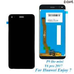fc4396fbb1bf 20pcs lot LCD for Huawei P9 Lite Mini Display Touch Screen Replacement  SLA-L22 Y6 Pro 2017 LCD Free Shipping by DHL EMS