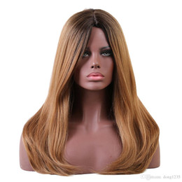Long Wavy Hair Pictures Australia - Women's Brown Long Straight Wavy Full Heat Resistatn Hair Wigs Cosplay wig>>>>>Free shipping New High Quality Fashion Picture wig
