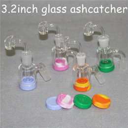 reclaim adapter NZ - Glass Reclaim Catcher Adapter 3.2Inch Glass Bong Ash Catchers 14mm 18mm Thick Pyrex Glass Bubbler Ash Catcher 45 90 Degree