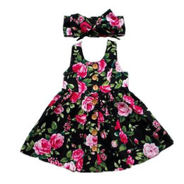 Chinese  2019 Summer Long Sleeve Girls Dress Baby Girl Clothes Button Floral Dress Wedding Pageant Formal Dresses Sundress Clothing manufacturers