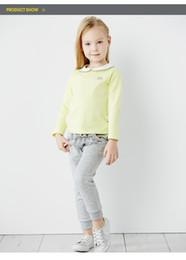$enCountryForm.capitalKeyWord Australia - Kids Cotton T-shirt Long Sleeve Shirt Top Children Toddler Girls Spring Autumn Shirt Tees With Peter Pan Collar
