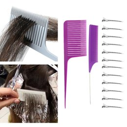2 Pieces Sectioning Weave Hair Comb W  Styling Hairclips For Hairdressing