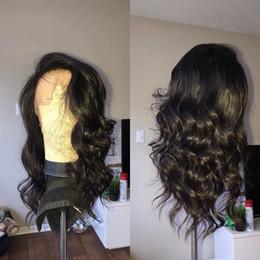 $enCountryForm.capitalKeyWord Australia - Popular Big Body Wave Human Hair Wigs Bleached Knots Full Lace Wigs Brazilian Malaysian Medium Size Swiss Lace Cap Lace Front Wigs