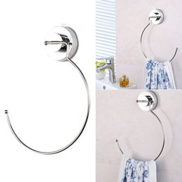 classic earphones Canada - Classic Ring Towel Rack Polished Thick Holder Reusable Durable Convenient Stainless Steel With Suction Cup