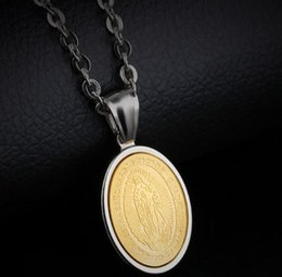 Titanium Coins Australia - Hot sale new men fashion jewelry Maria titanium steelnecklace birthday festival new year gift
