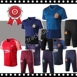 4b5b9658e Argentina Jersey Short Australia - Best jersey 2018 World Cup training suit  short sleeve 3 4