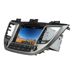 Hyundai ix35 car gps online shopping - For Hyundai Tucson ix35 Android Octa Core din quot Car DVD Radio GPS Bluetooth WIFI USB GB RAM GB ROM Mirror link