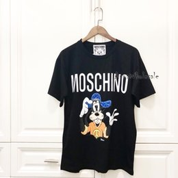 $enCountryForm.capitalKeyWord Australia - MOS Fashion Tee Cute Goofy Dog Print Beading Short Sleeve Men And Women High Quality Comfortable Summer Cotton T-shirt