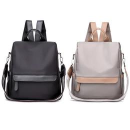 Shoulder Straps Backpack NZ - Korean Style Anti-theft Wide Shoulder Strap Backpack Bag School Student Fashion Simple Backpacks For Women Teenager Girls Bags