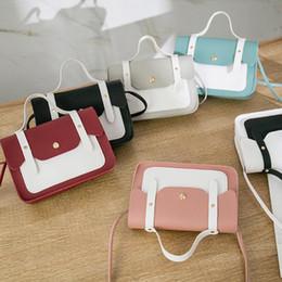 Skull Shaped Glitter UK - 2019 Summer Fashion Women Shoulder Bag Mini Leisure Matching Color Square Shape Messenger Bags PU leather Handbags Clutch Bag