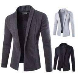 $enCountryForm.capitalKeyWord Canada - ZOGAA Men Korean Slim Fit Fashion Cotton Blazer Suit Jacket Black Gray Plus Size S To 2XL Male Blazers Mens Coat Wedding Wear
