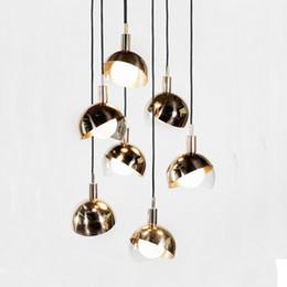 Hanging Glass Ball Lights Australia - Modern glass lampshade pendant light glass ball bedside hanging lamp kitchen e27 drop light lamp salon lustre suspension kitchen