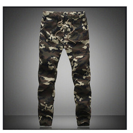 Discount mens military cargo camouflage pants M-5X 2019 Mens Jogger Autumn Pencil Harem Pants Men Camouflage Military Pants Loose Comfortable Cargo Trousers Camo Jogg
