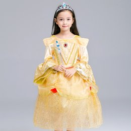 strapless full skirted wedding dress NZ - Girl Dress Halloween Clothing Perform Clothes Children Princess Skirt Wedding Dress Full Dress