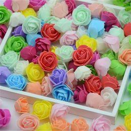 Mini Pe Bags NZ - 2019 50PCS Bag Mini PE Foam Rose Flower Head Artificial Rose Flowers Handmade DIY Wedding Home Decoration Festive & Party Supplies