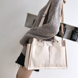 Discount briefcase school - Business Briefcase Design Women Shopping Bag Tote Canvas Travel Shoulder Bag Ladies School Books Handbag Portable