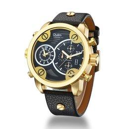 Wasserdichte Uhr der High-End-Männer Sportart Fabrik personalisierte Geschenk Multi-Time Zone Uhr Armband