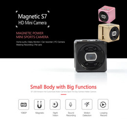 Micro Motion Cameras Australia - Full HD 1080P Mini Camera S7 IR Night Vision video Camcorder portable Motion Detection MINI DV DVR Micro Camera support Tf card