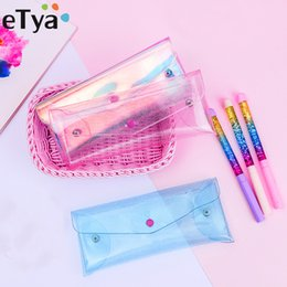 $enCountryForm.capitalKeyWord Australia - eTya Women Makeup Brush Bags Girl Transparent Bag Travel Small Cosmetic Bag New Cute Student Mini Pencil Case Pouch