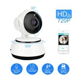 Vente en gros WiFi Mini Caméra IP 720P HD Surveillance sans fil de sécurité Cam Audio Record Baby Monitor CCTV Caméra Support SD Card ICSEE bébé caméra animal de compagnie