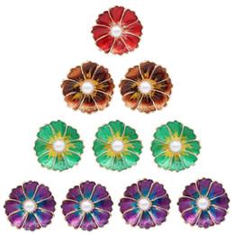 Diy Fashion Bracelets Australia - 5pcs fashion snap jewelry 4 color Flower Styles pearl Metal Charms 18mm 20mm Button Jewelry For Snaps Bracelet DIY Snap