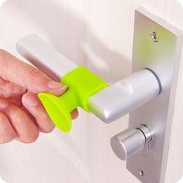 $enCountryForm.capitalKeyWord Australia - Door handle with wall fixed silicone anti-skid sucker home protection mat mute muffler suction door stop pad 2pcs sale
