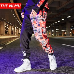 $enCountryForm.capitalKeyWord NZ - Color Block Patchwork Sweatpants Joggers Pants Men 2019 Spring Hip Hop Casual Camo Pant Mens Trousers Streetwear US Size GW027