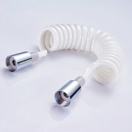 $enCountryForm.capitalKeyWord Australia - 1.5 meter bidet faucet hose Stretch & springback PVC white shower hose pipe free shipping
