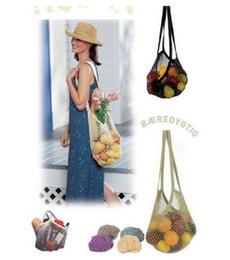 $enCountryForm.capitalKeyWord Australia - 100 pcs Reusable Shopping String Storage Mesh Bag Grocery Handbag Fishnet Woven Net Tote Special Purpose Bags Super Market Bags