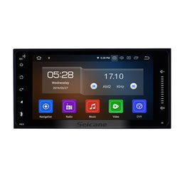 Aux Stereo System Australia - 7 inch HD TouchScreen Android 9.0 Car GPS Navigation System for Toyota Universal with Bluetooth USB AUX WIFI support DVR OBD II car dvd