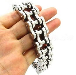 $enCountryForm.capitalKeyWord Australia - Mens 14K Gold Plated Stainless Steel Motorcycle Chain Bracelet Bangle 9inch 20mm