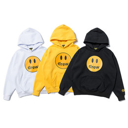 yellow smiley hoodie 2020 - Fashion brand celebrity luxury hoodie, smiley print high-quality cotton luxury brand coat, plus velvet casual sweater fr